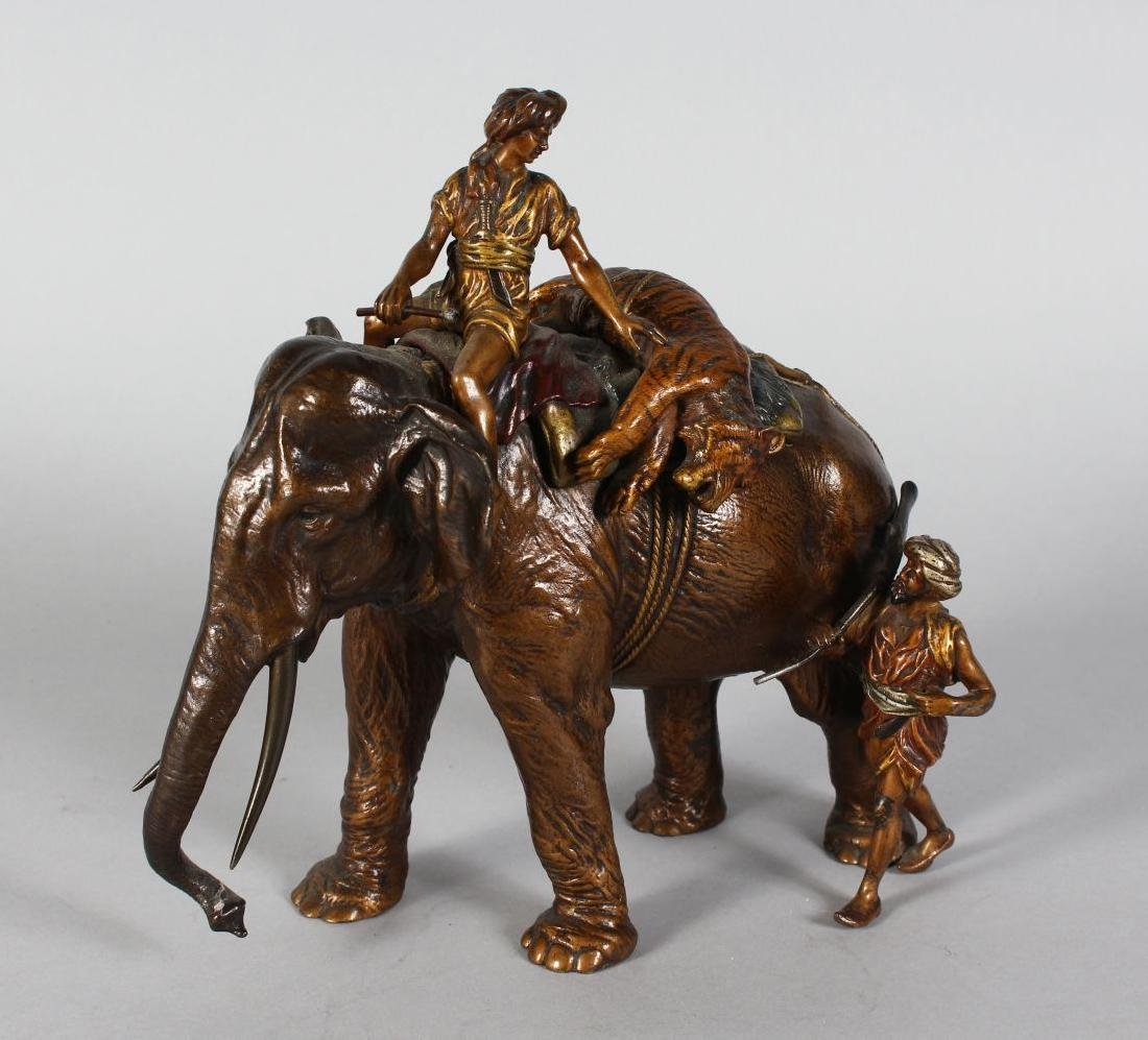 A SUPERB PERIOD VIENNA COLD PAINTED BRONZE OF AN