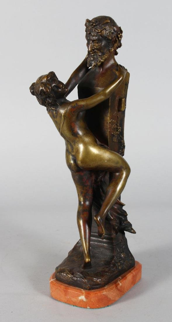 CLODION.  A BRONZE NUDE YOUNG LADY AND A HORNED DEVIL.