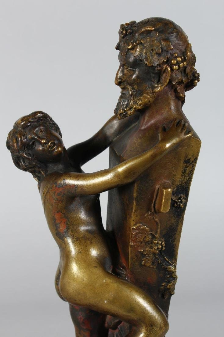 CLODION.  A BRONZE NUDE YOUNG LADY AND A HORNED DEVIL. - 2