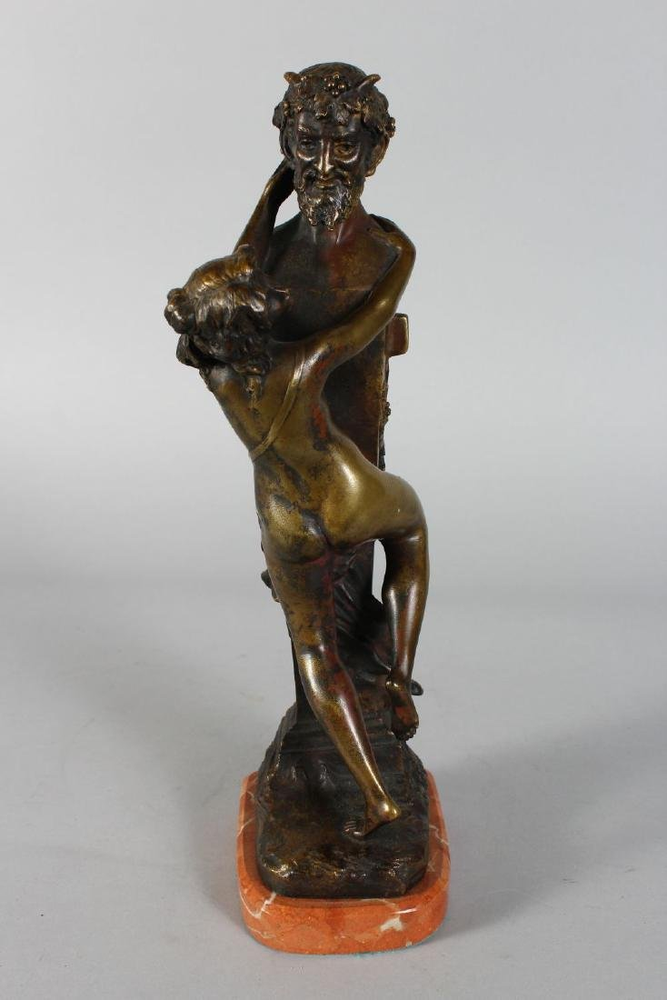 CLODION.  A BRONZE NUDE YOUNG LADY AND A HORNED DEVIL. - 3