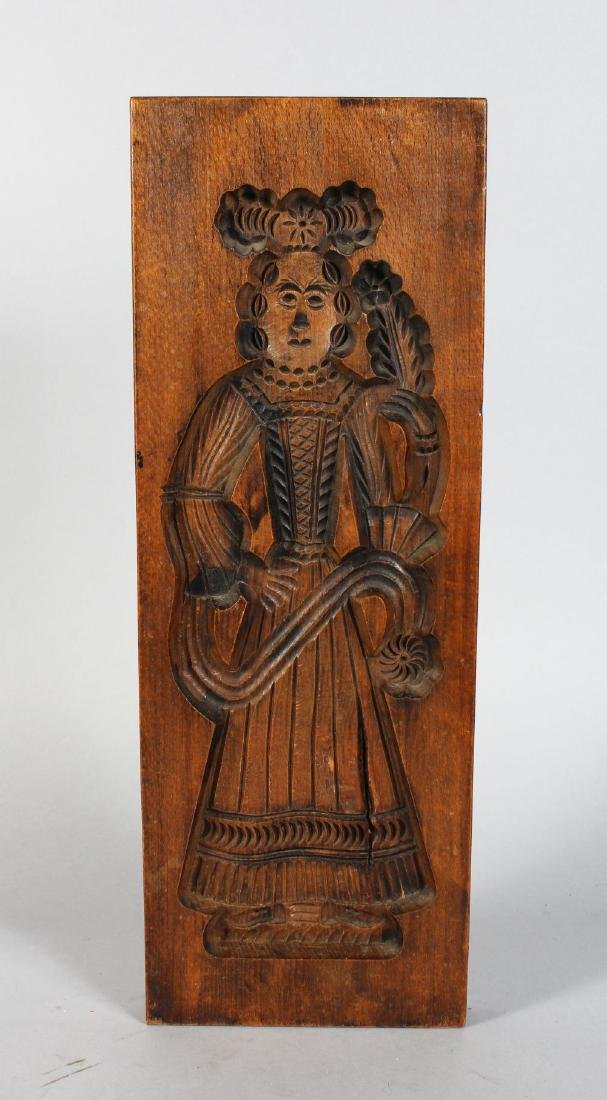 A DUTCH 19TH CENTURY CARVED SPECULAAS MOULD, recto,