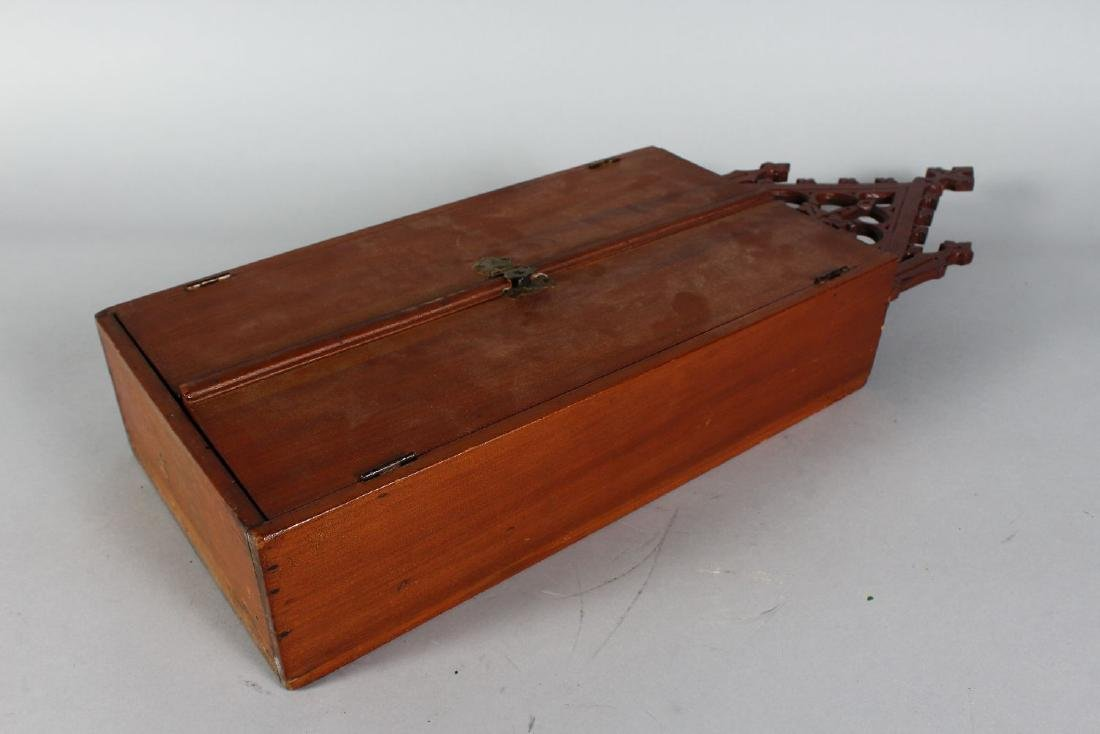 A RUSSIAN TRAVELLING ICON in a folding wooden case. - 3
