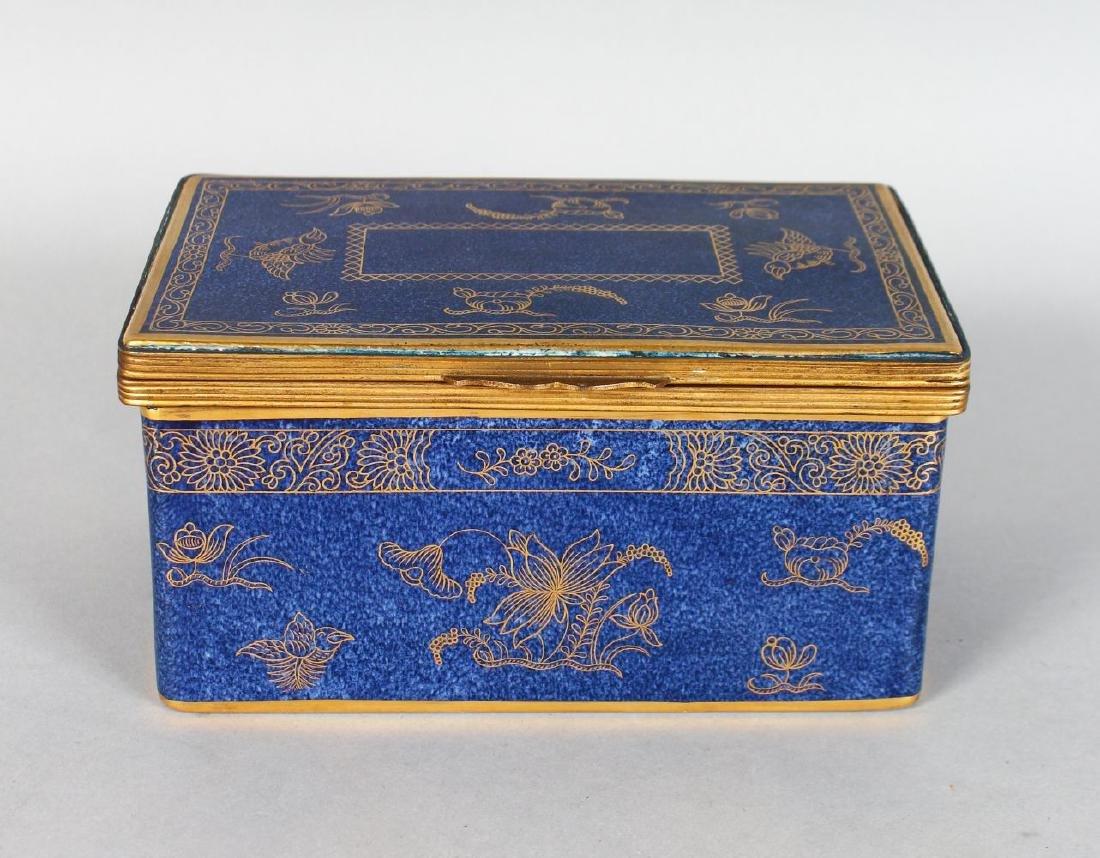 "A COPELAND PORCELAIN ""GROCERS HALL 1914"" BLUE CASKET"