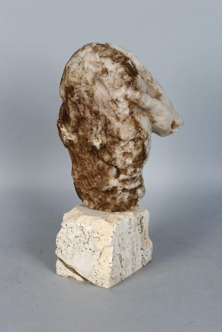 AN UNUSUAL 20TH CENTURY CARVED MARBLE ABSTRACT GROUP, - 2