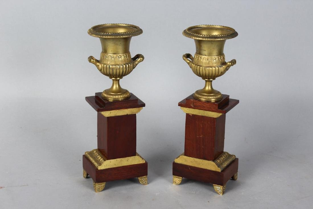 A PAIR 0F 20TH CENTURY ORMOLU AND MAHOGANY CLASSICAL - 2
