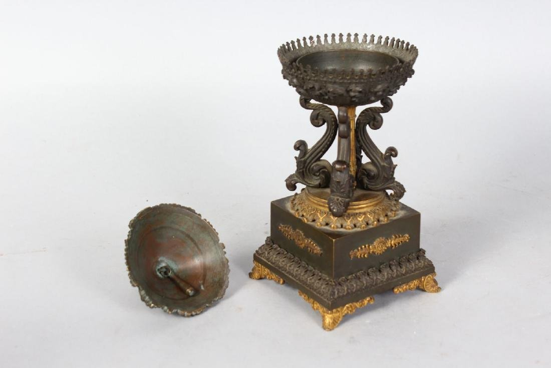 A SMALL FRENCH EMPIRE BRONZE BELL, in the form of a - 2