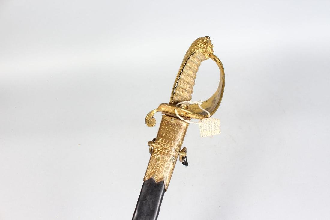 A GEORGE III NAVAL SWORD by PROSSER OF LONDON, with - 2