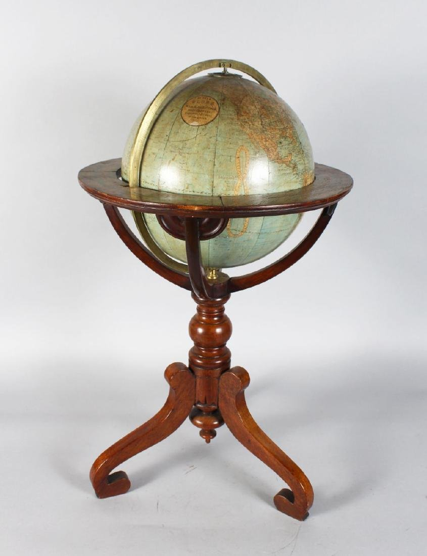 A GOOD 19TH CENTURY TABLE GLOBE BY W. & A.K. JOHNSTON,