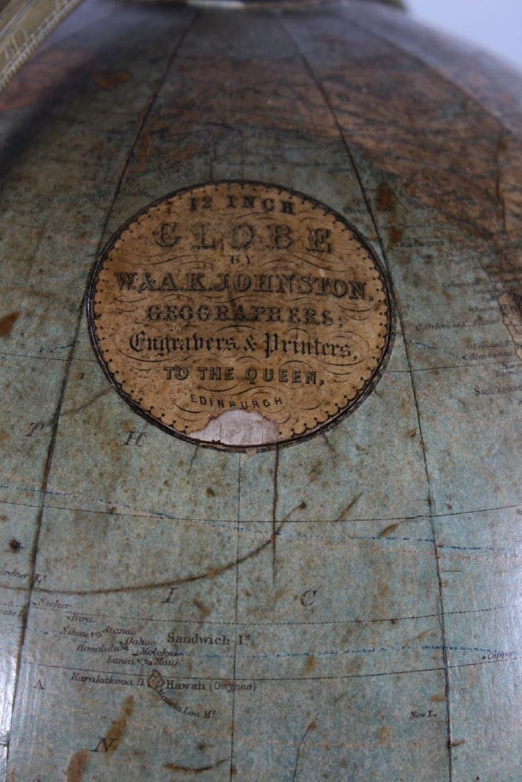 A GOOD 19TH CENTURY TABLE GLOBE BY W. & A.K. JOHNSTON, - 2