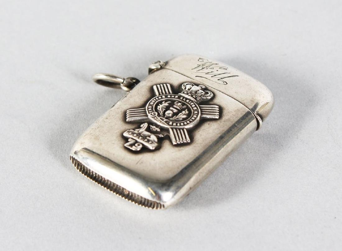 A SILVER VESTA, with The Crest of The Queens Own