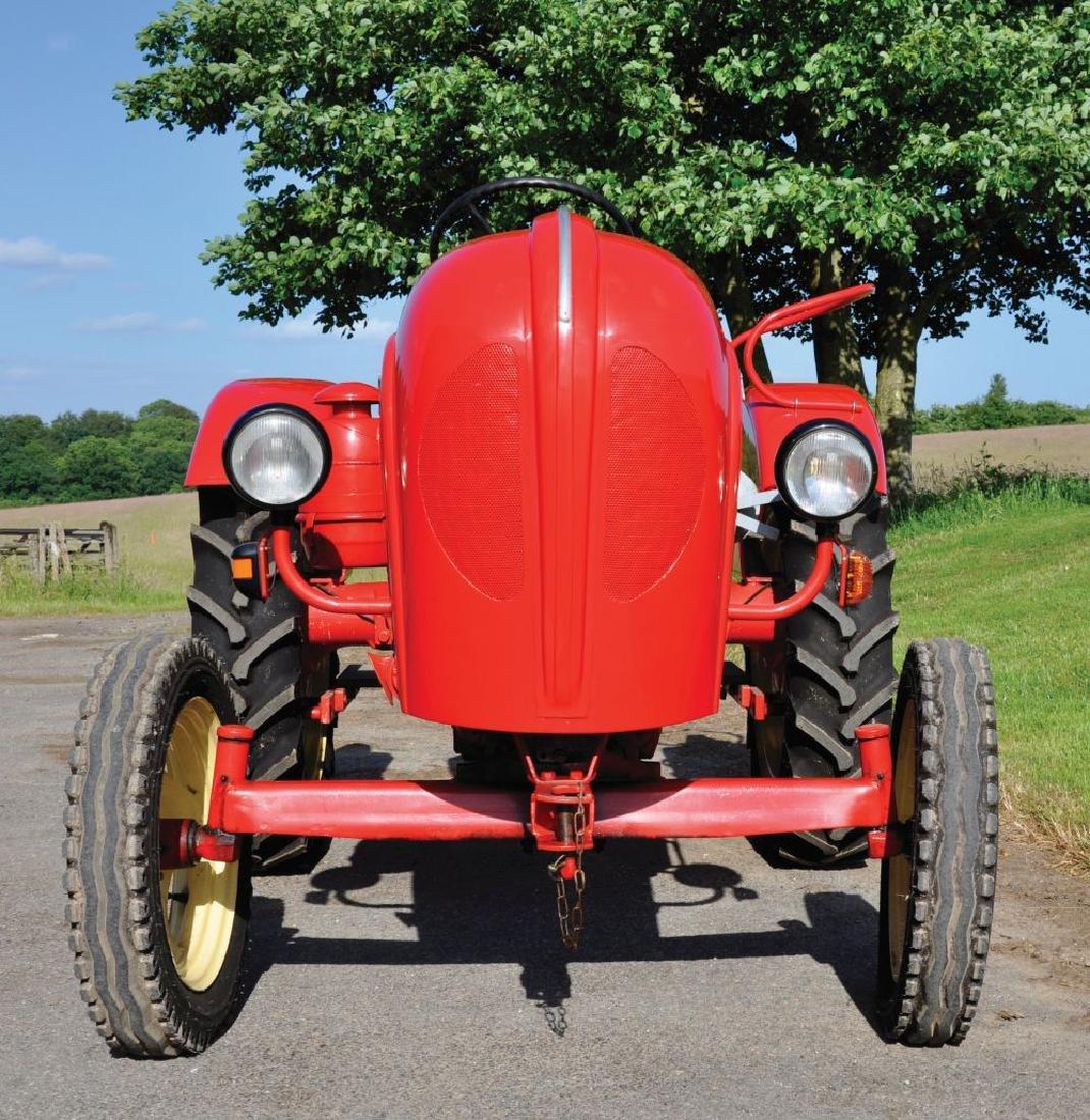 A 1961 PORSCHE JUNIOR RED SINGLE CYLINDER TRACTOR, - 5