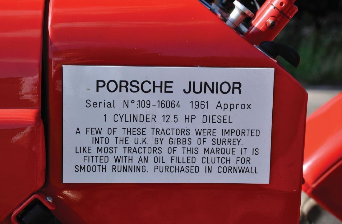 A 1961 PORSCHE JUNIOR RED SINGLE CYLINDER TRACTOR, - 6
