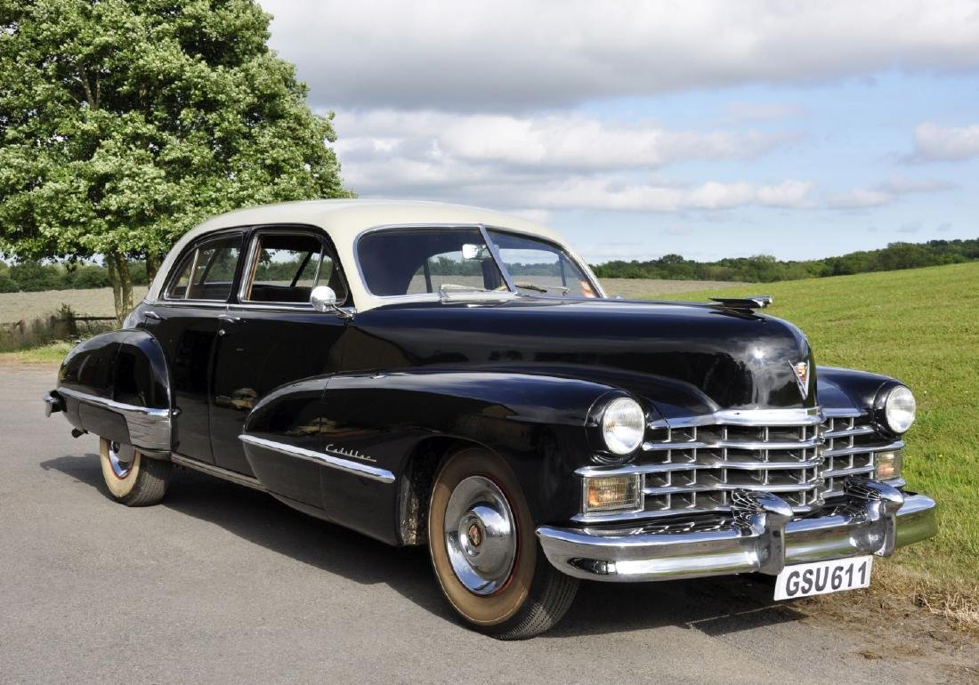 A 1947 CADILLAC FOUR DOOR SEDAN SERIES 62, Reg No. GSU