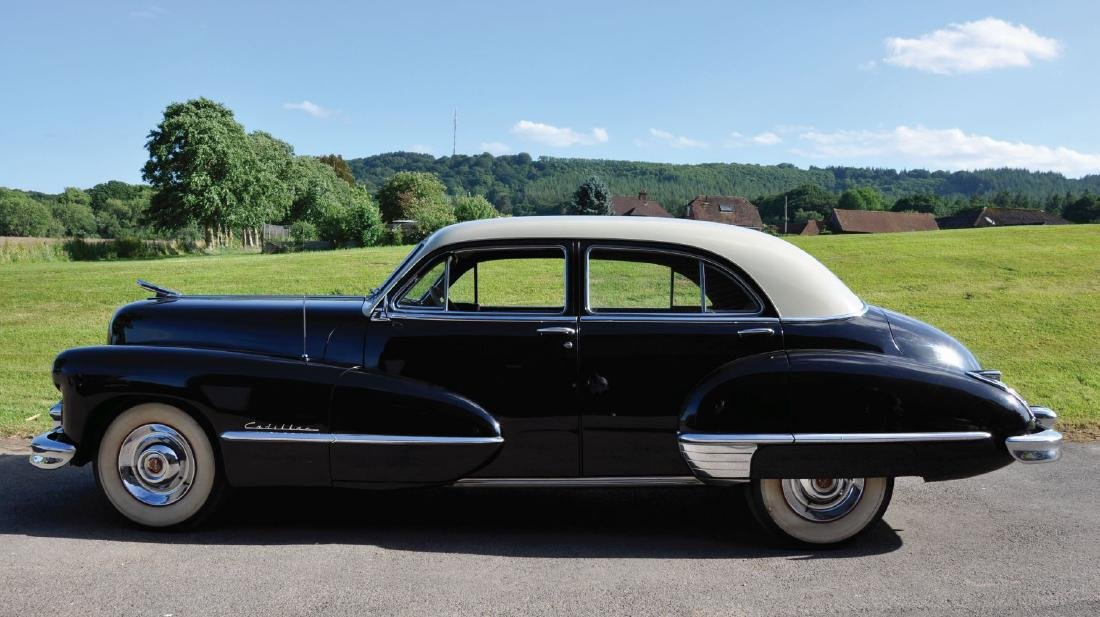 A 1947 CADILLAC FOUR DOOR SEDAN SERIES 62, Reg No. GSU - 3