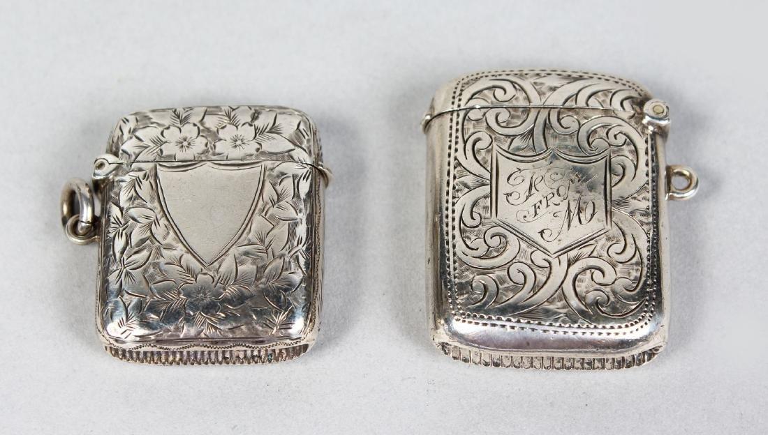 TWO VESTA CASES.  Birmingham 1905 and 1898.
