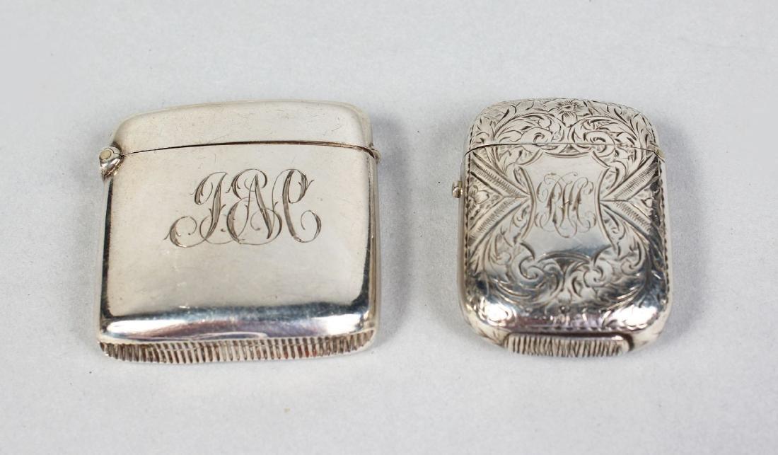 TWO VESTA CASES.  Birmingham 1905 and 1880.