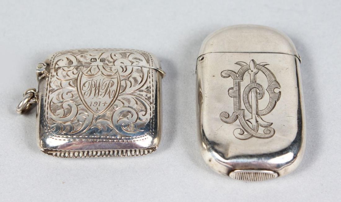 TWO VESTA CASES.  Birmingham 1882 and 1911.