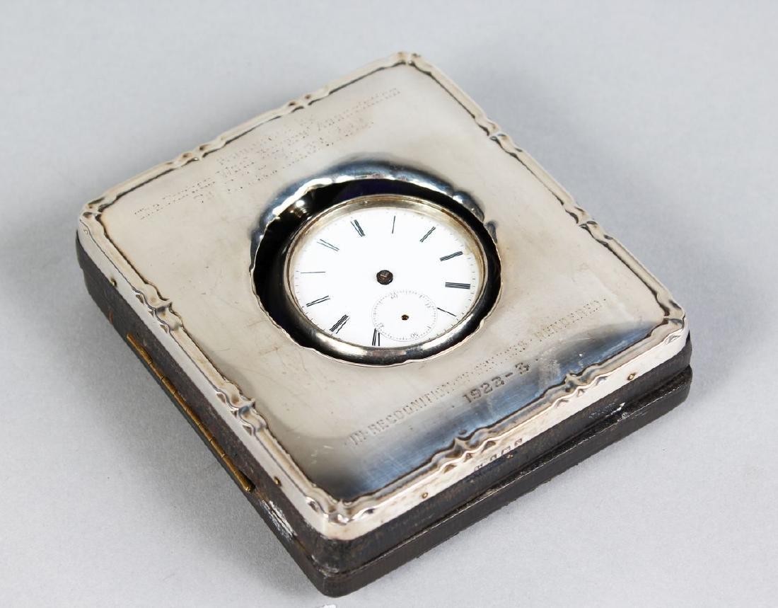 AN EDWARDIAN SILVER WATCH CASE, Birmingham 1922, and A
