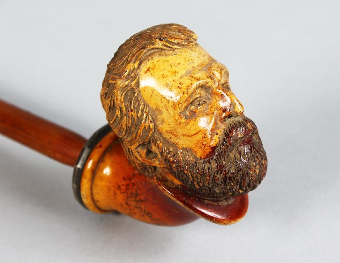 "A MEERSCHAUM PIPE ""HEAD OF A BEARDED MAN""."