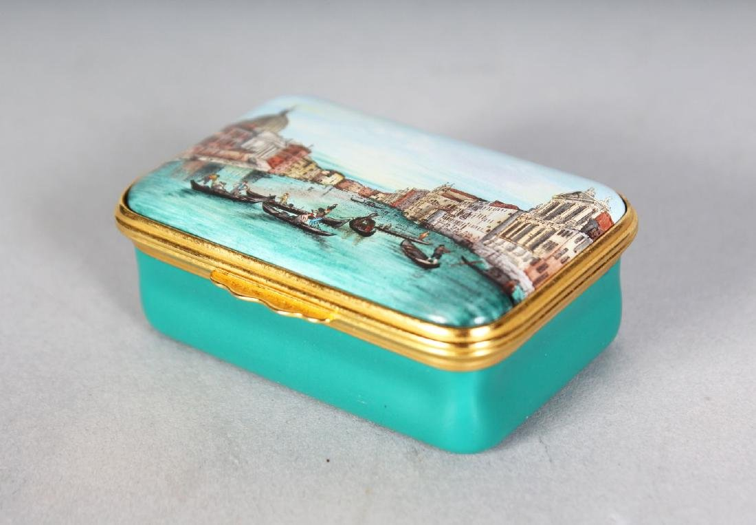 A HALCYON DAYS CANALETTO BOX.