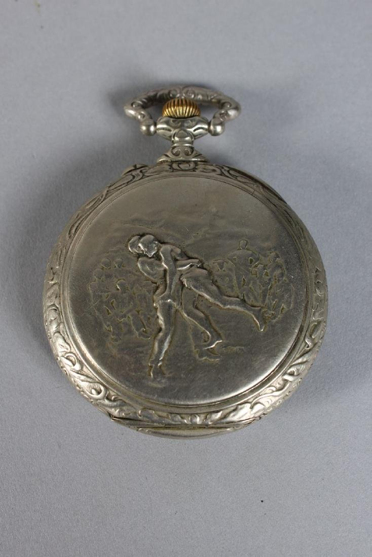 A DOXA EROTIC HORSE RIDING POCKET WATCH. - 2