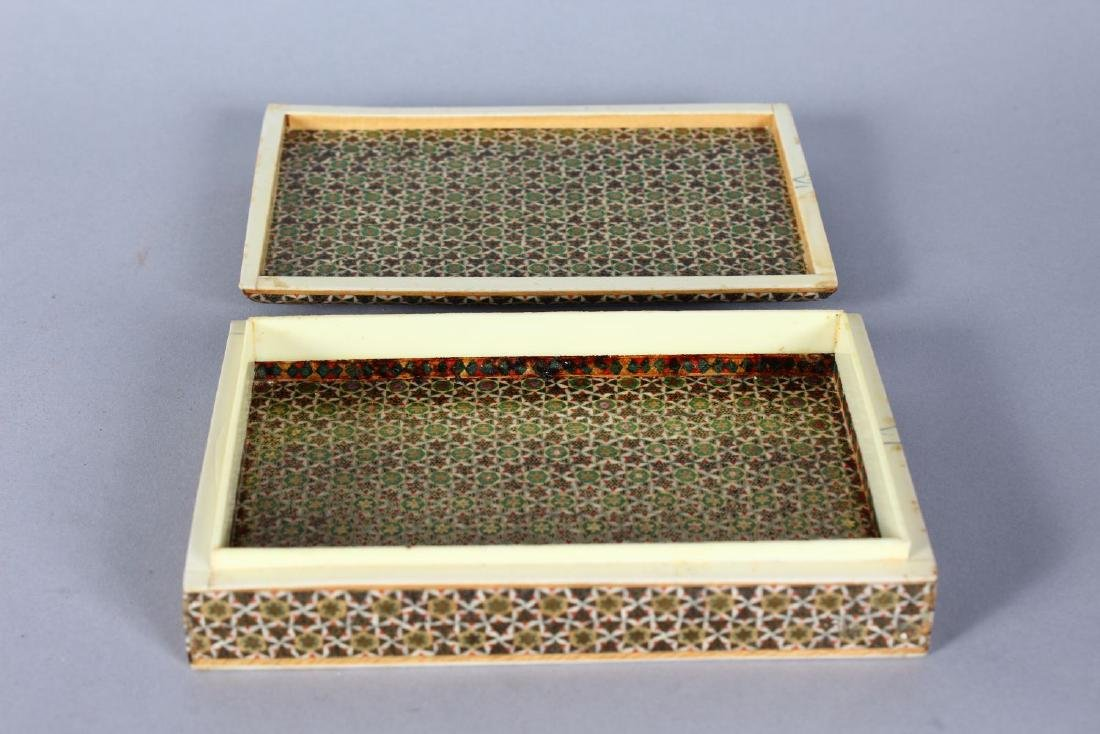 AN ISLAMIC MOSIAC BOX, 6ins x 4ins. - 2