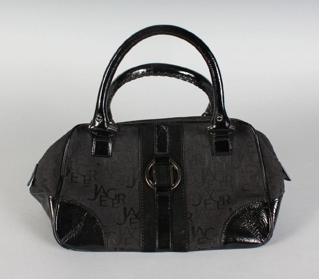 A BLACK JAEGER BAG.