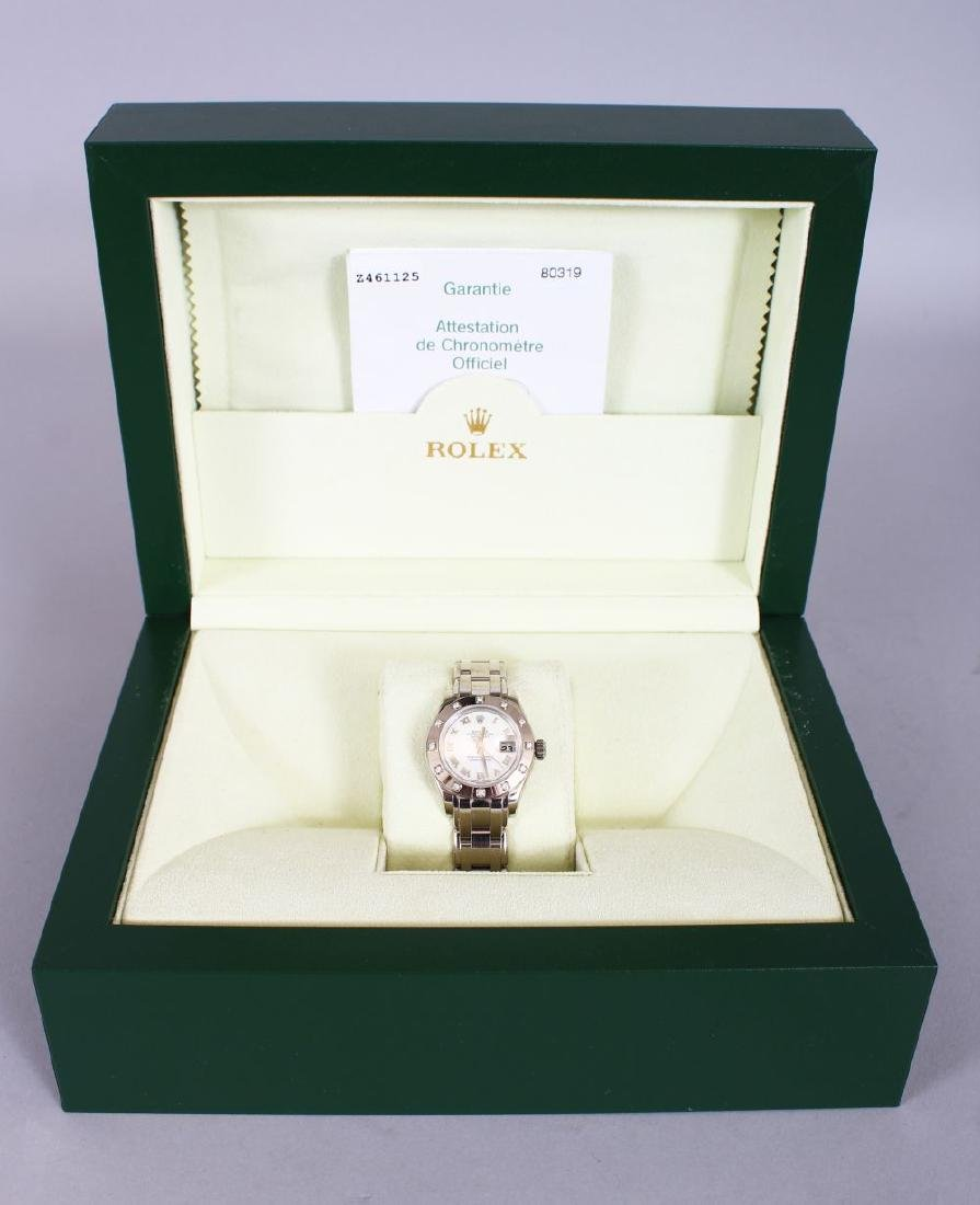 A LADIES' 18CT GOLD ROLEX with mother-of pearl face and - 2