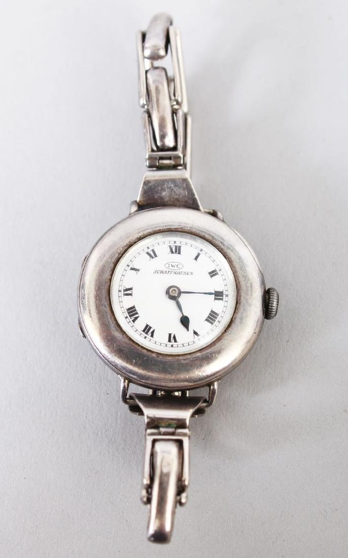 A LADIES IWC SCHAFFHAUSEN WRISTWATCH.