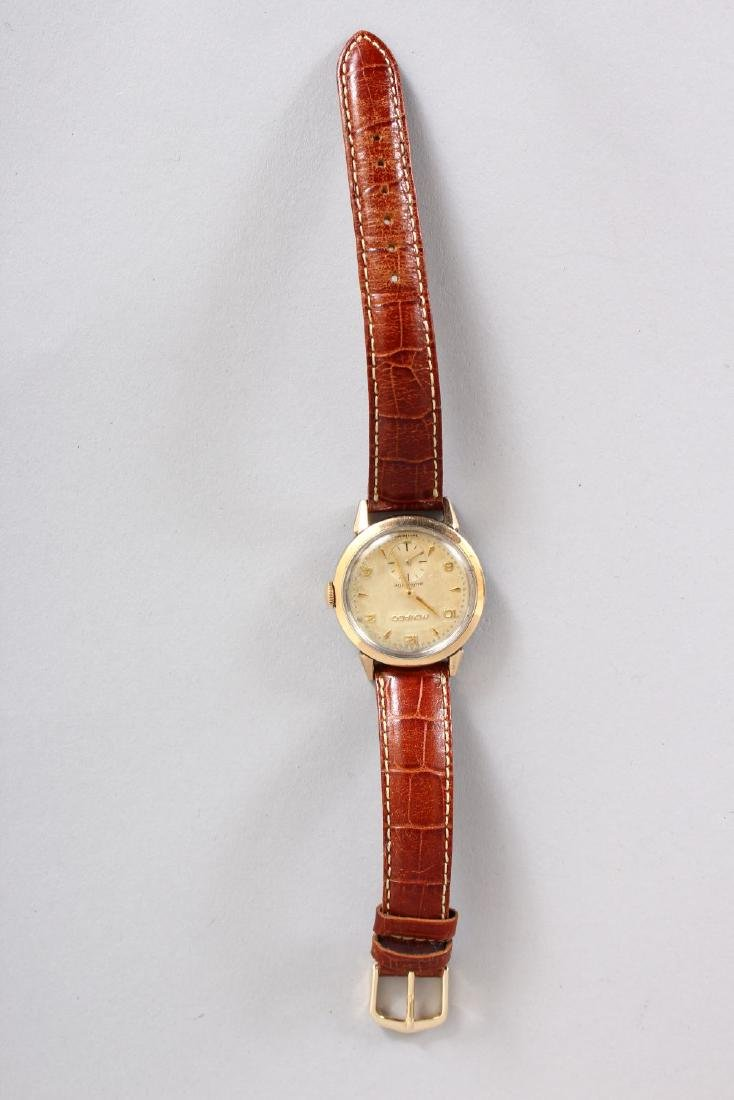 A GENTLEMAN'S MOVADO WRISTWATCH with leather strap, - 2