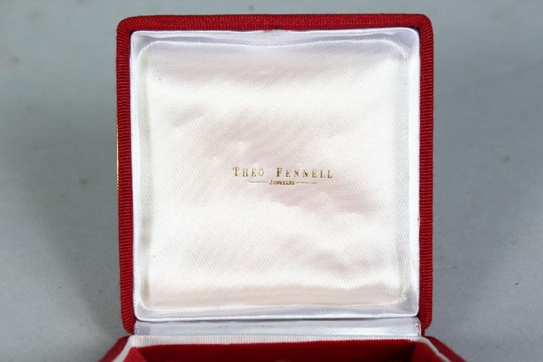 A THEO FENNELL 18CT GOLD, DIAMOND AND SAPPHIRE SET - 2
