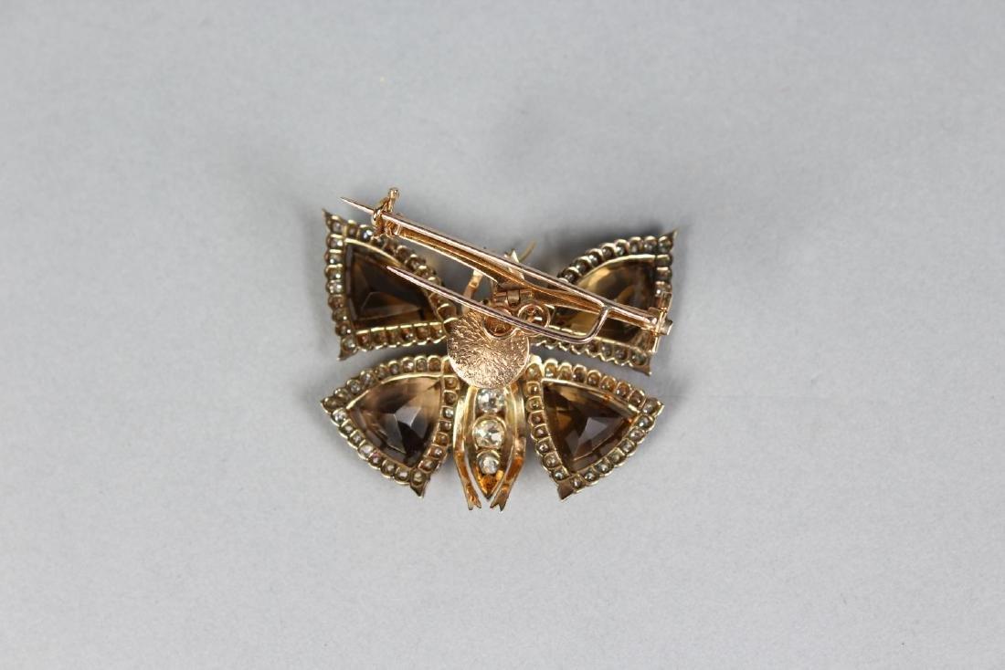 A GOOD GOLD, DIAMOND, CITRINE AND EMERALD TREMBLER - 2