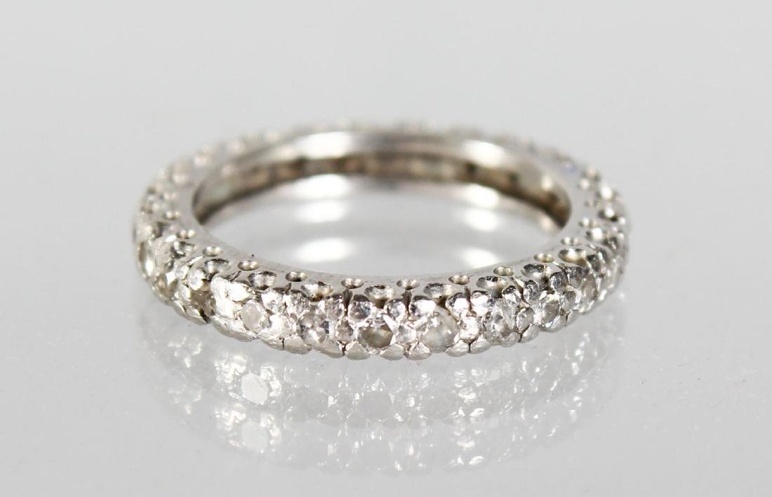 A DIAMOND FULL ETERNITY RING.