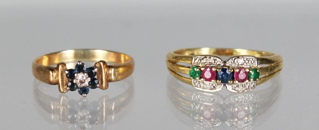 TWO GOLD RINGS.