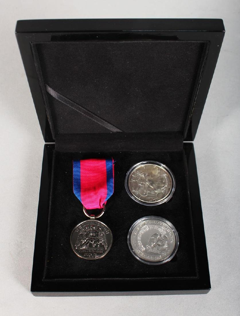 A REPLICA SILVER WATERLOO VICTORY MEDAL AND RIBBON and