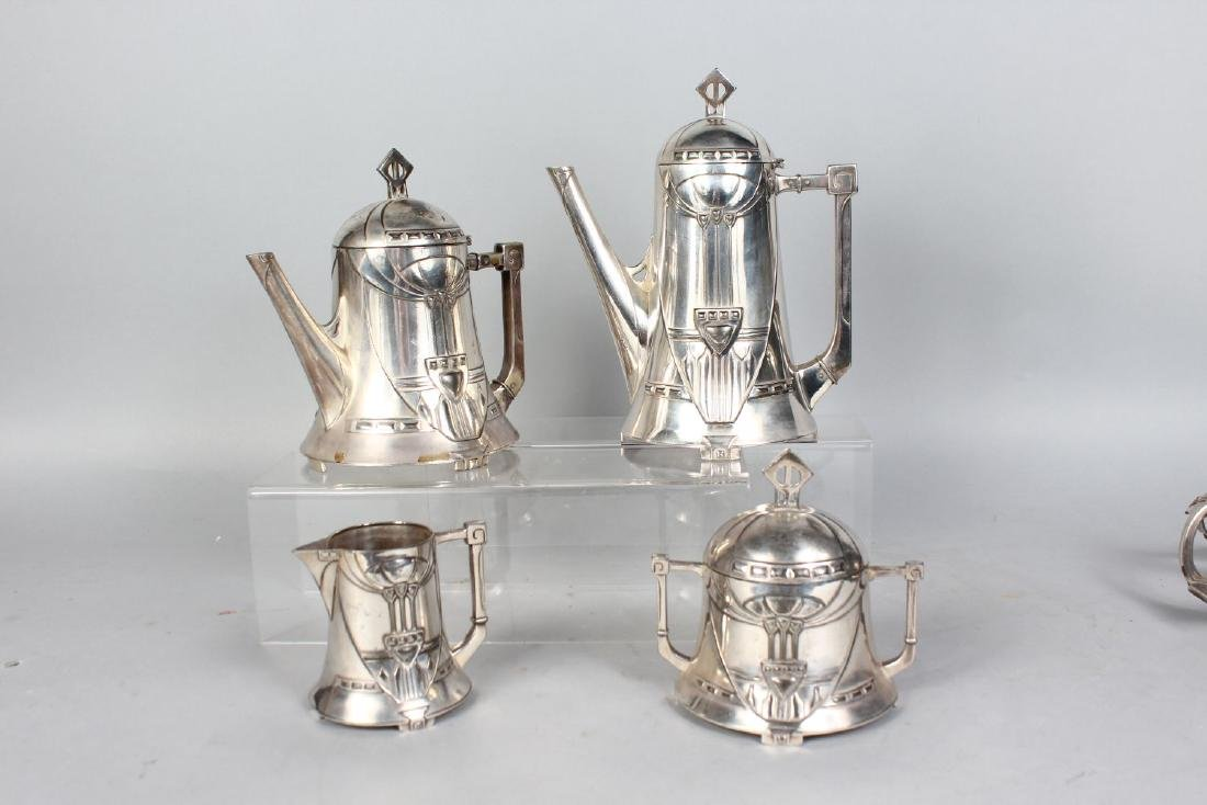 A WMF SILVER PLATED FIVE-PIECE TEA AND COFFEE SERVICE, - 2