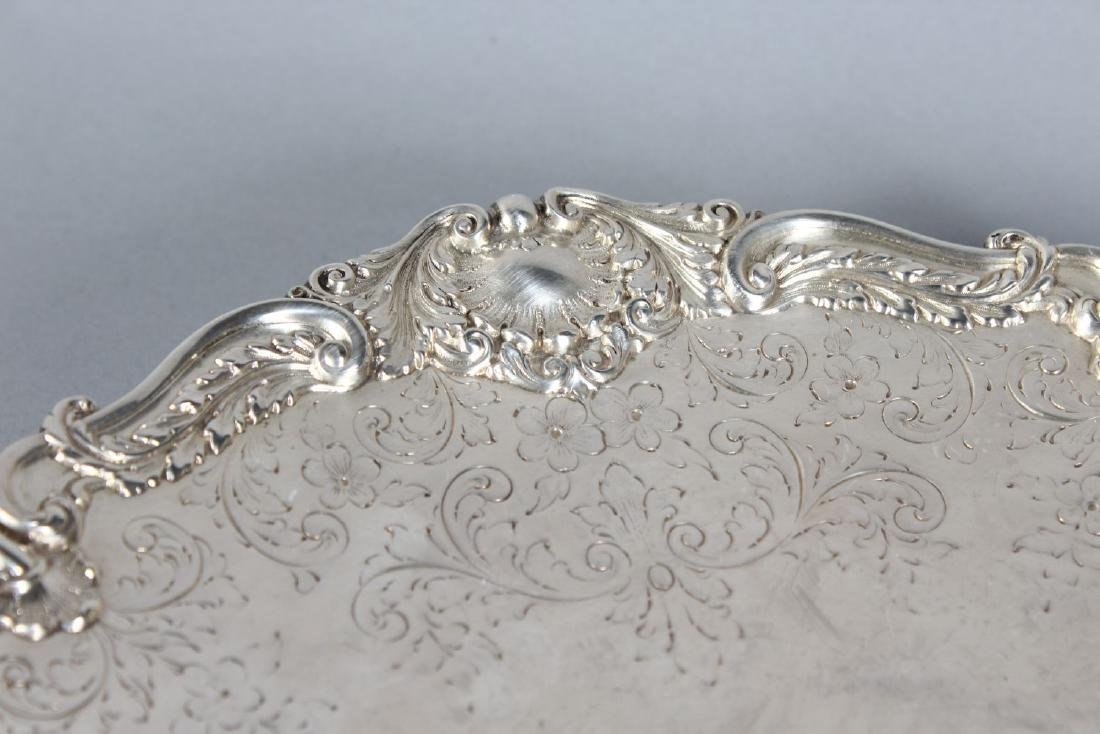 A STERLING SILVER ENGRAVED SALVER by S. A. MACQUEEN & - 2