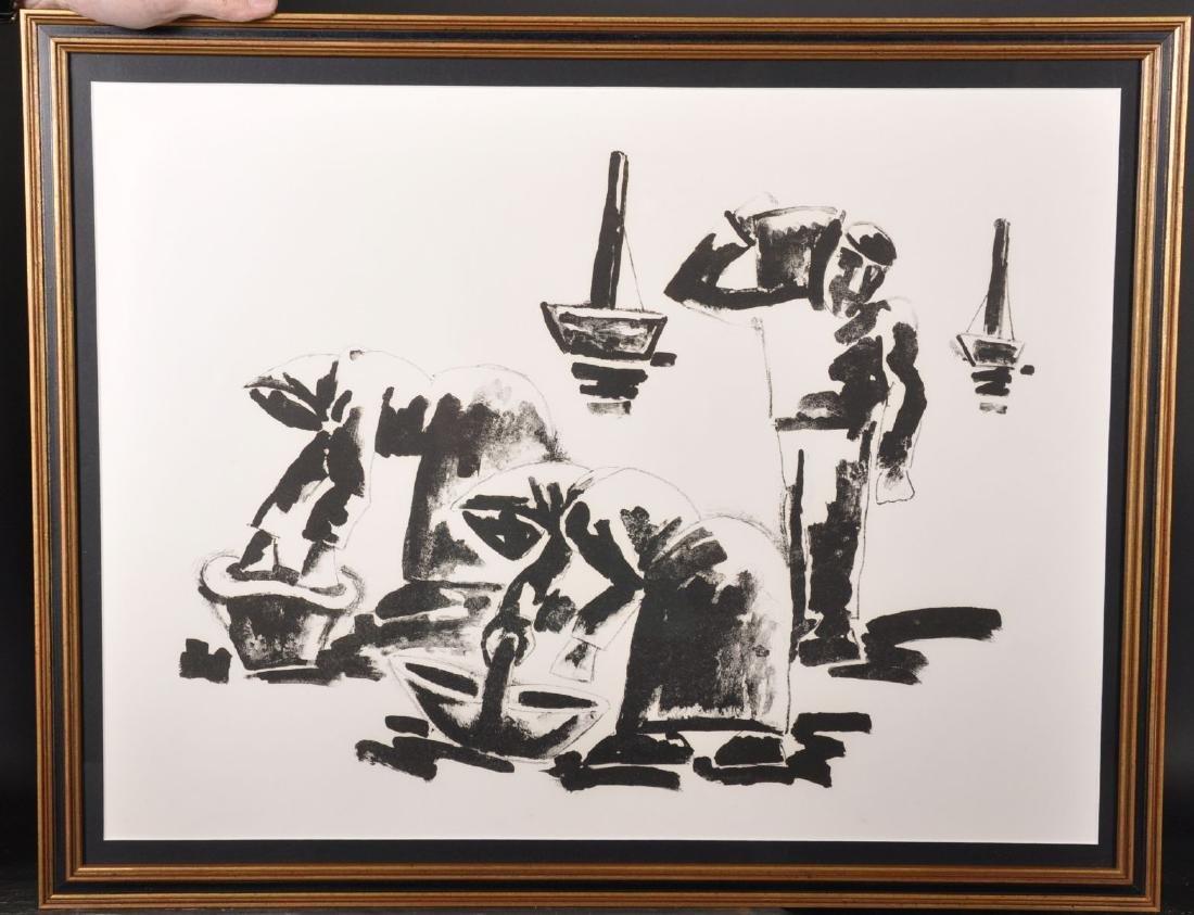 """Josef Herman (1911-2000) Polish. """"Cockle Gatherers"""","""