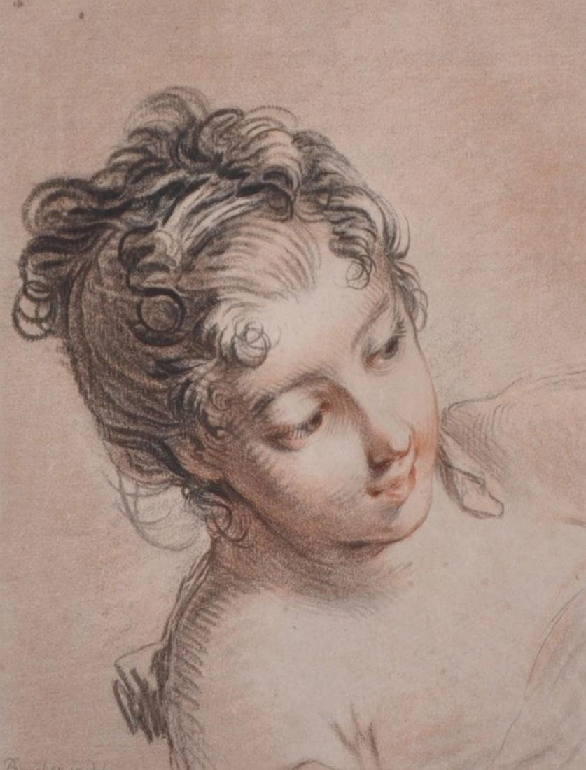 After Francois Boucher (1703-1770) French. Portrait of