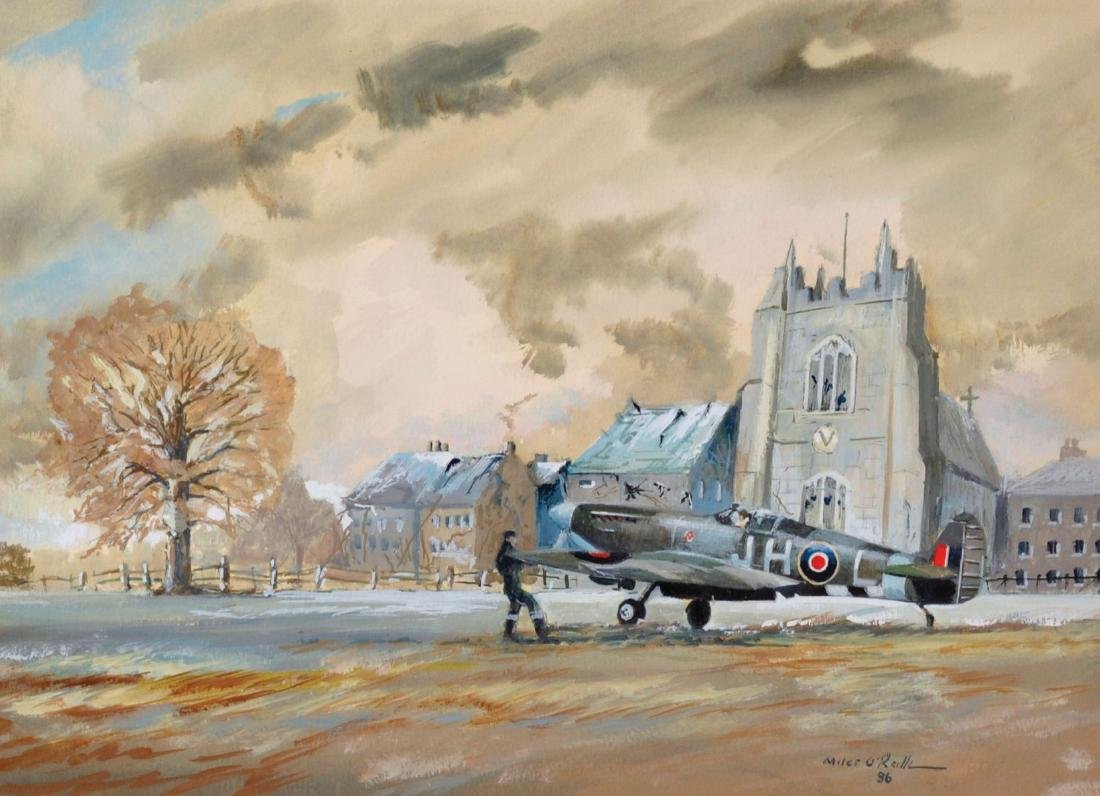 Miles O'Reilly (20th Century) British. Spitfire in
