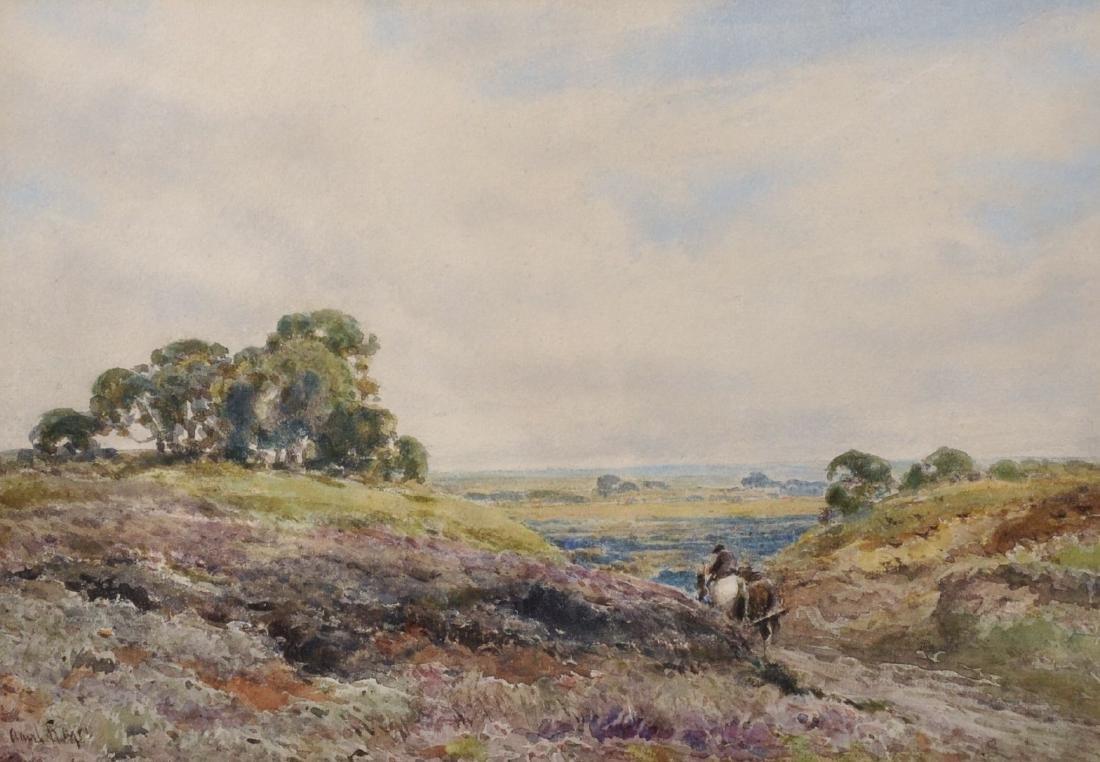 Claude Hayes (1852-1922) British. 'Extensive Landscape