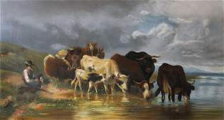 G A Brown 19th Century British Drover and