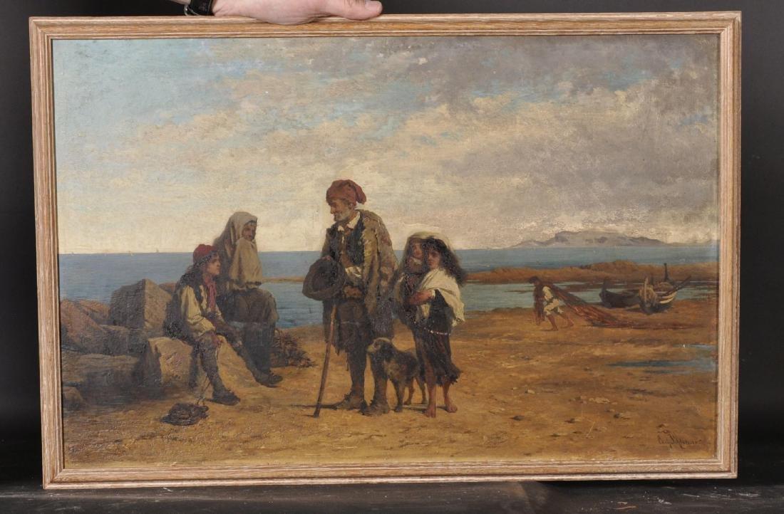 "Carl Schloesser (1832-1914) German. ""Sicilian Beggars"","
