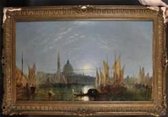 Jane Vivian (act.1869-1877) British. A Moonlit Venetian