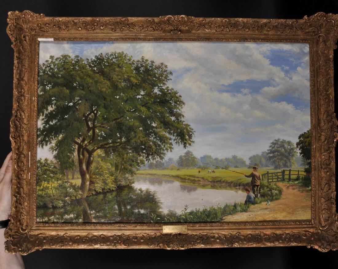 L...A... Church (19th-20th Century) British. A River