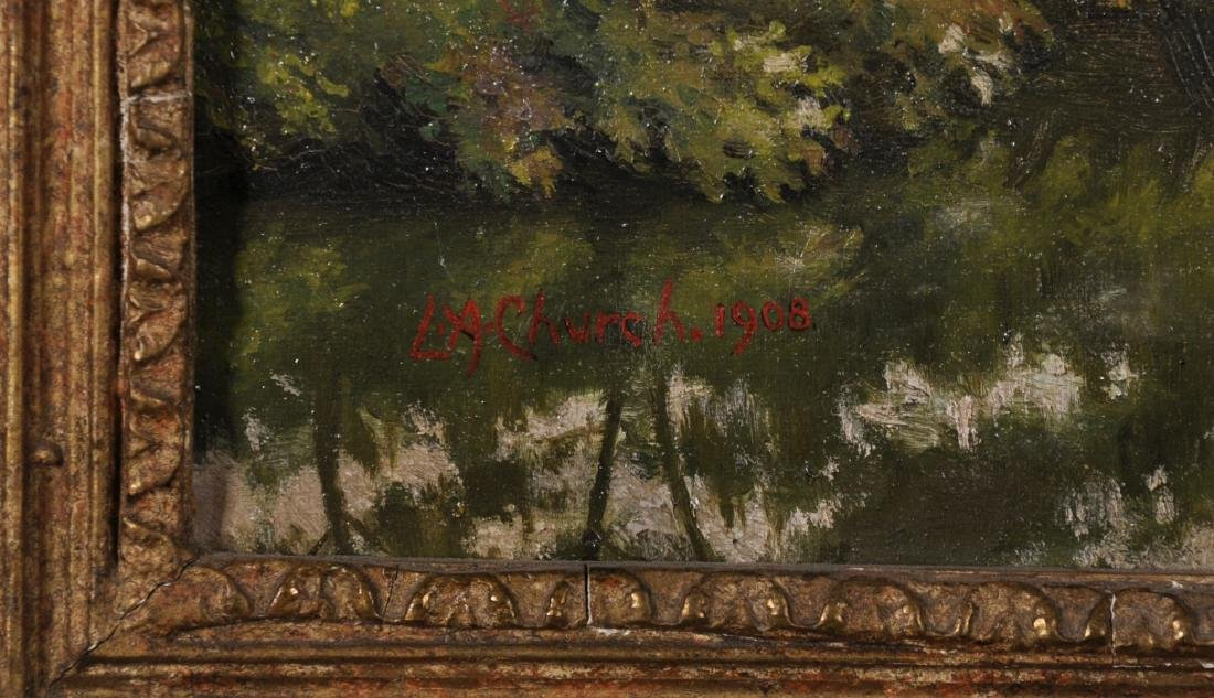 L...A... Church (19th-20th Century) British. A River - 2