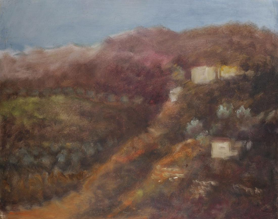 Doris (20th - 21st Century) Greek. A Hilltop Landscape