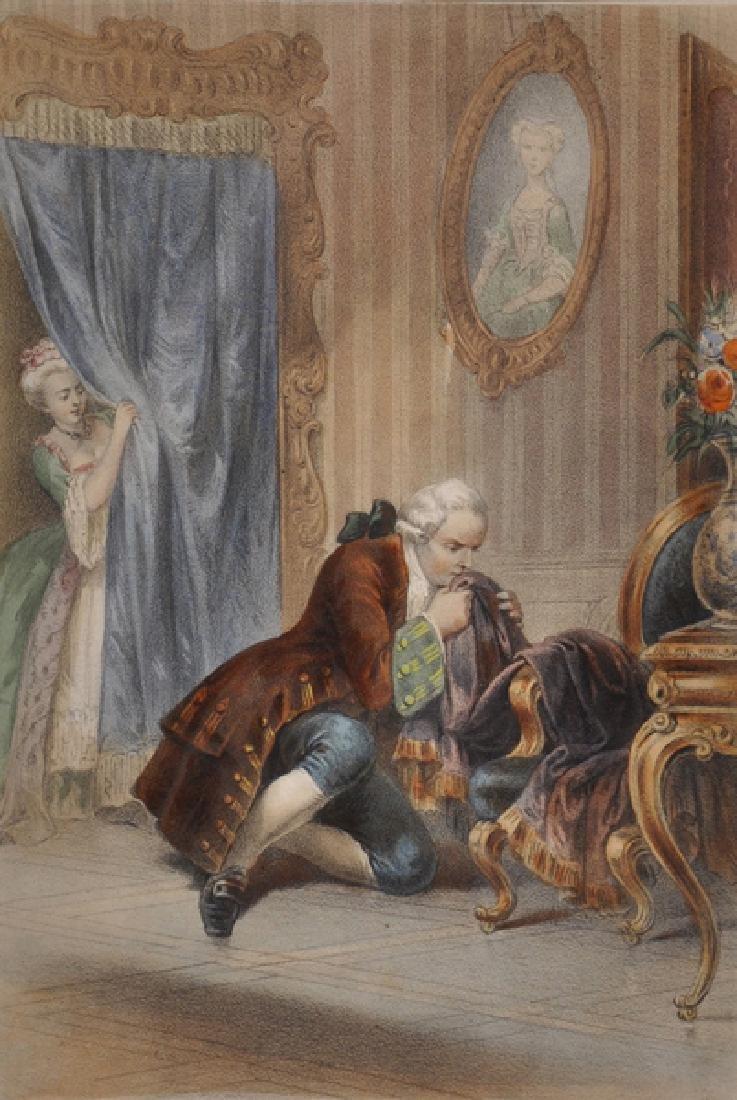 18th Century French School. A Man Smelling a Cloak,