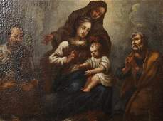 17th Century Italian School A Religious Scene Oil on