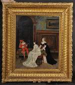 Herver 19th Century Italian Elegant Ladies in an